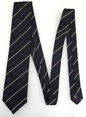 MICHAELIS pure silk tie Man's padded tie in black